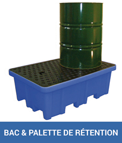 bac et palette de rétention